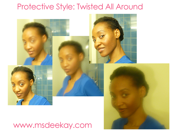 Natural Hair Protective Style
