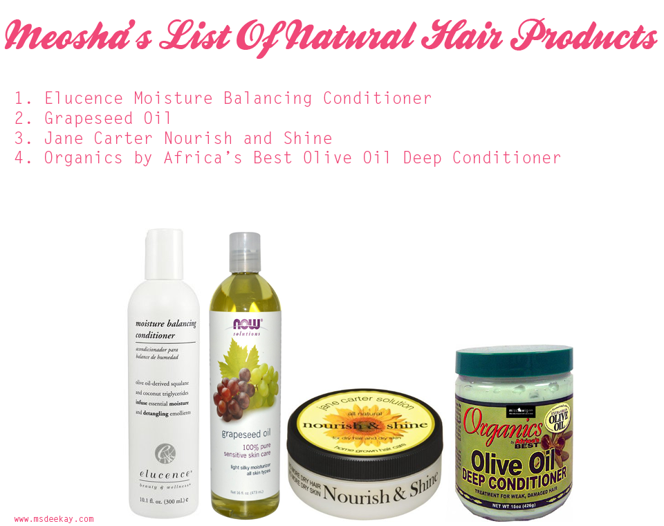 Meosha's favourite products