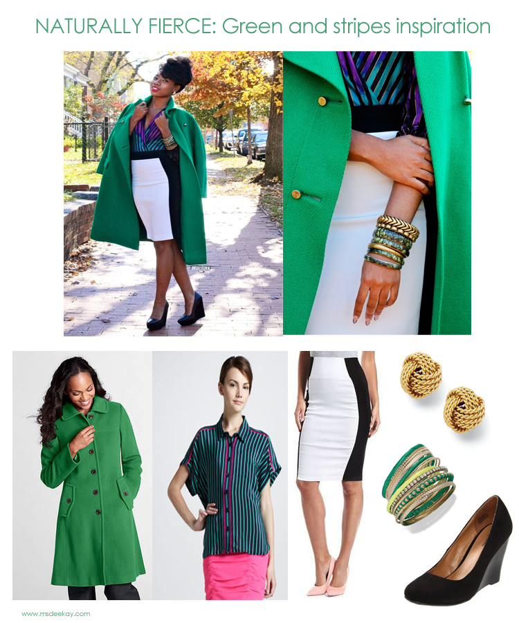 green and bold stripes inspired