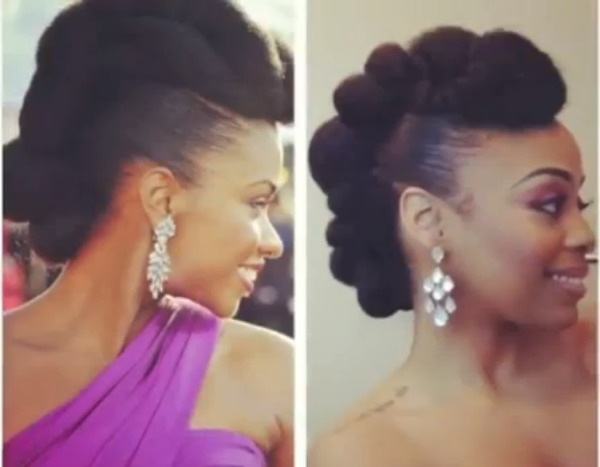 Red Carpet-Ready Natural Hair Updo Inspired by Teyonah Parris1 (Felicia Leatherwood)