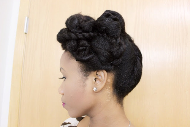 Valentine's Day Updo | All Rolled Up from Kinkyislandgirl'