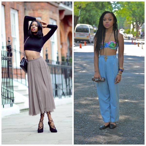 crop tops, high waist pencil skirt, 90s fashion, comeback