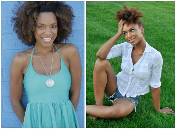 nicole carter-lyde, afro, big hair, natural hair, type 4 hair, model,