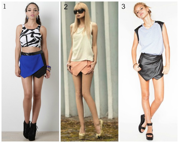 summer trend, skorts, sheinside coral skort, vagabond leather skort, urbanog colorblock skort