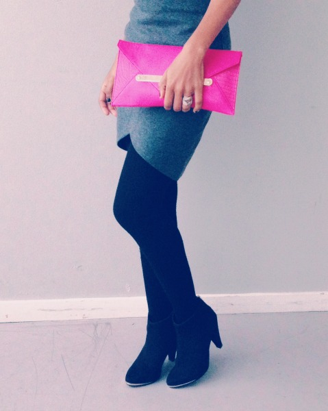 radiant orchid clutch asos fuschia clutch ankle booties msdeekay
