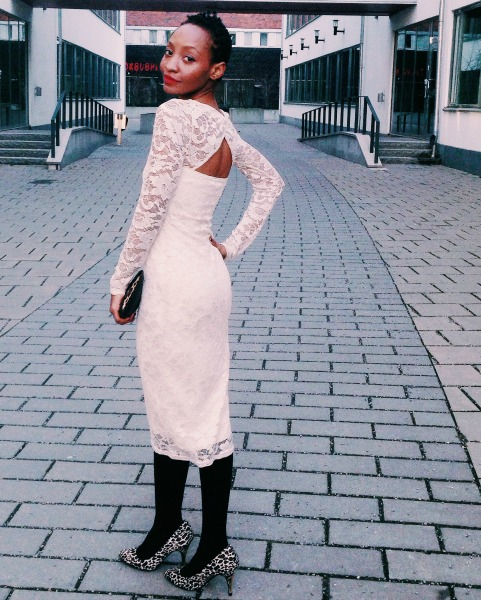 lace dress winter whites msdeekay animal print asos new look
