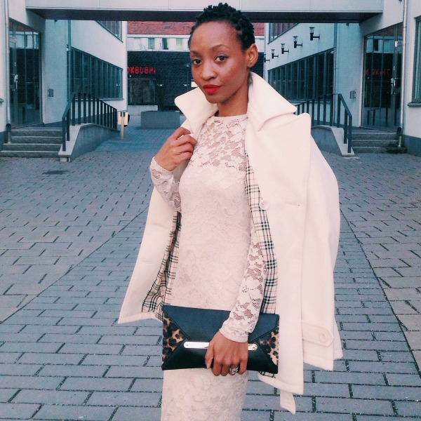 winter whites lace dress animal print asos new look twa msdeekay