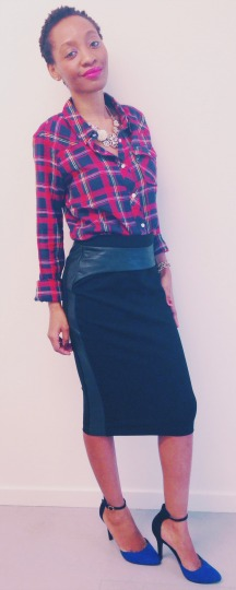 plaid-shirt-leather-panel-skirt-newlook-heels