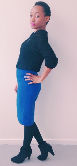 cobalt blue pencil skirt asos