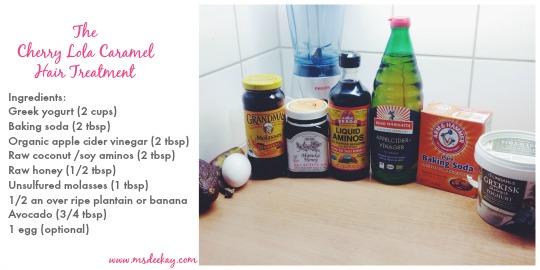 cherry lola caramel treatment ingredients