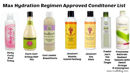 Maximum Hydration Method Approved Conditioner List